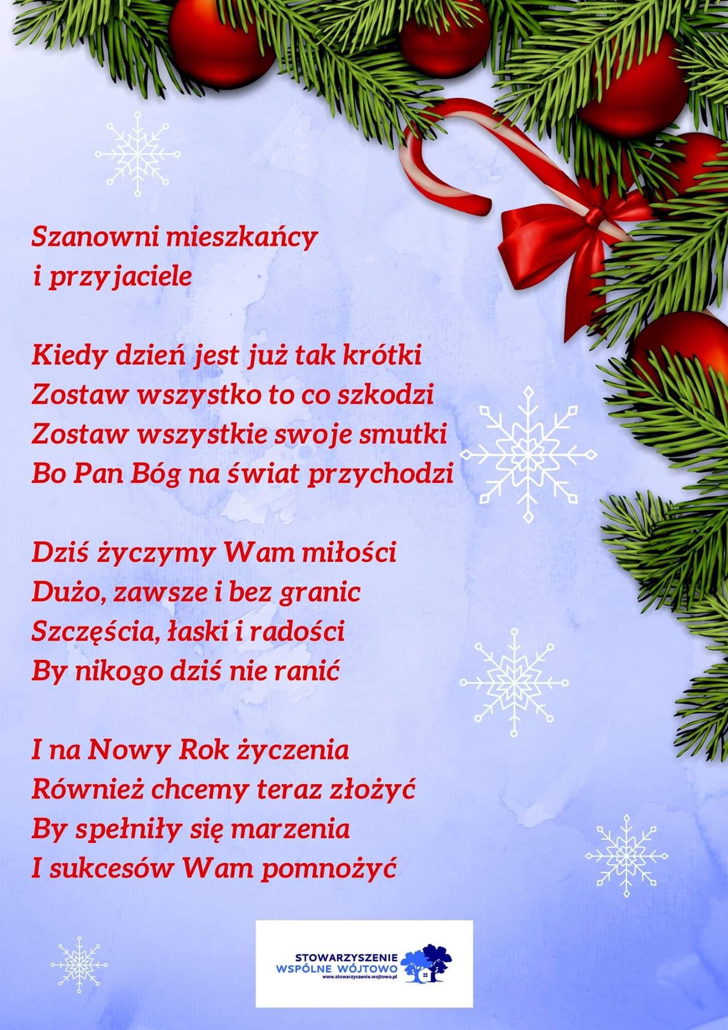 życzenia Na Boże Narodzenie 2018 Stowarzyszenie Wspólne